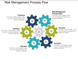 Risk Management Process Flow Ppt Powerpoint Presentation Professional Show Cpb