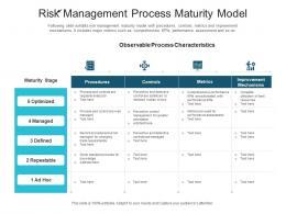 Risk Management Process Maturity Model