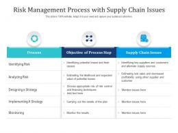 Risk Management Process With Supply Chain Issues