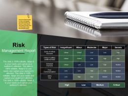 Risk Management Report Ppt Ideas Infographic Template