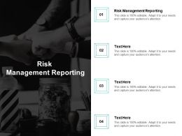 Risk Management Reporting Ppt Powerpoint Presentation Gallery Brochure Cpb