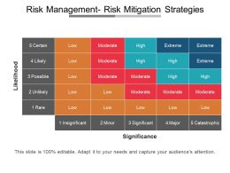 Risk Management Risk Mitigation Strategies Presentation Deck