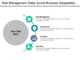 Risk Management Sales Funnel Business Adaptability Business Strategies Definition Cpb