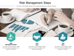 Risk Management Steps Ppt Powerpoint Presentation Sample Cpb