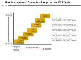 Risk Management Strategies And Approaches Ppt Slide