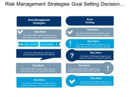Risk Management Strategies Goal Setting Decision Making Planning Cpb