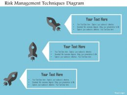 Risk Management Techniques Diagram Flat Powerpoint Design