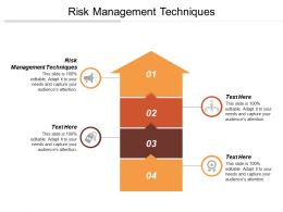 Risk Management Techniques Ppt Powerpoint Presentation Gallery Microsoft Cpb