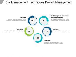 Risk Management Techniques Project Management Ppt Powerpoint Presentation File Objects Cpb