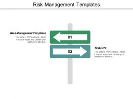Risk Management Templates Ppt Powerpoint Presentation File Graphics Example Cpb