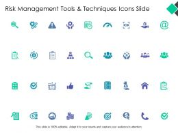 Risk Management Tools And Techniques Icon Slide Planning Ppt Powerpoint Presentation Icon