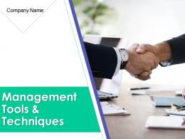 Risk Management Tools And Techniques Powerpoint Presentation Slides