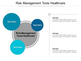 Risk Management Tools Healthcare Ppt Powerpoint Presentation Pictures Outline Cpb
