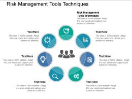 Risk Management Tools Techniques Ppt Powerpoint Presentation Layouts Shapes Cpb