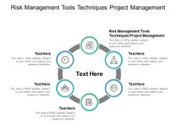 Risk Management Tools Techniques Project Management Ppt Powerpoint Presentation Cpb