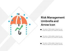 Risk Management Umbrella And Arrow Icon