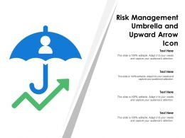 Risk Management Umbrella And Upward Arrow Icon