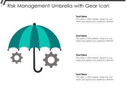 Risk Management Umbrella With Gear Icon