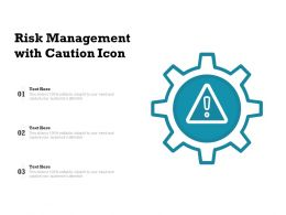 Risk Management With Caution Icon