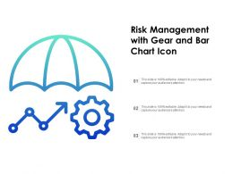 Risk Management With Gear And Bar Chart Icon