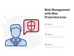 Risk Management With Man Protection Icon