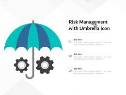 Risk Management With Umbrella Icon