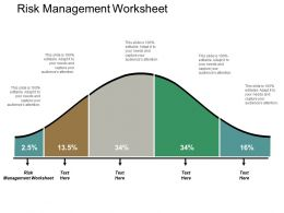 Risk Management Worksheet Ppt Powerpoint Presentation Icon Templates Cpb
