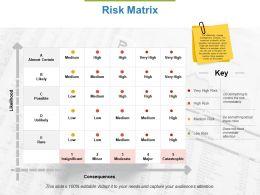 Risk Matrix Ppt Powerpoint Presentation File Designs