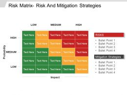 Risk Matrix Risk And Mitigation Strategies Presentation Design