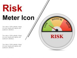 Risk Meter Icon Ppt Example