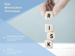 Risk Minimization Techniques Ppt Powerpoint Presentation Layouts Objects Cpb