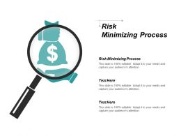 Risk Minimizing Process Ppt Powerpoint Presentation Icon Guidelines Cpb