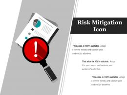 Risk Mitigation Icon Ppt Example 2017