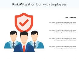 Risk Mitigation Icon With Employees