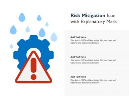 Risk Mitigation Icon With Explanatory Mark