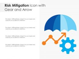 Risk Mitigation Icon With Gear And Arrow