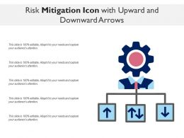 Risk Mitigation Icon With Upward And Downward Arrows