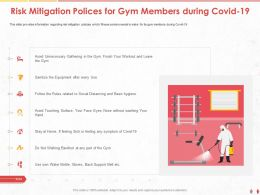 Risk Mitigation Polices For Gym Members During Covid 19 M1023 Ppt Powerpoint Presentation Icon Deck