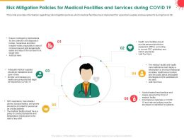 Risk Mitigation Policies For Medical Facilities And Services During COVID 19 Time Ppt Design