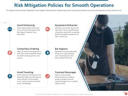 Risk Mitigation Policies For Smooth Operations Ppt Powerpoint Presentation Designs