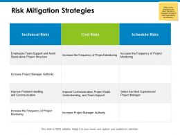 Risk Mitigation Strategies Cost Risk Ppt Powerpoint Presentation Icon Brochure