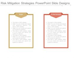 Risk Mitigation Strategies Powerpoint Slide Designs