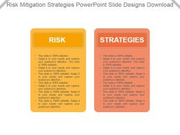 Risk Mitigation Strategies Powerpoint Slide Designs Download