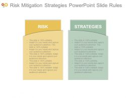 Risk Mitigation Strategies Powerpoint Slide Rules