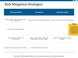 Risk Mitigation Strategies Ppt Layouts Layout
