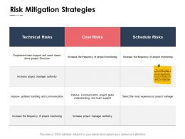 Risk Mitigation Strategies Team Support Ppt Powerpoint Presentation Pictures Maker