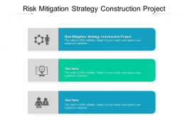 Risk Mitigation Strategy Construction Project Ppt Powerpoint Presentation Model Good Cpb
