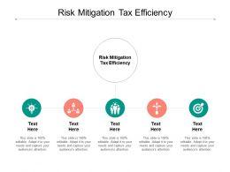 Risk Mitigation Tax Efficiency Ppt Powerpoint Presentation Gallery Grid Cpb