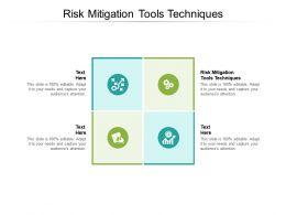 Risk Mitigation Tools Techniques Ppt Powerpoint Presentation Portfolio Professional Cpb
