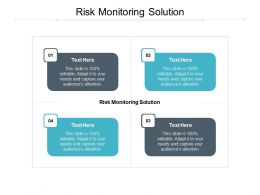 Risk Monitoring Solution Ppt Powerpoint Presentation Ideas Slides Cpb